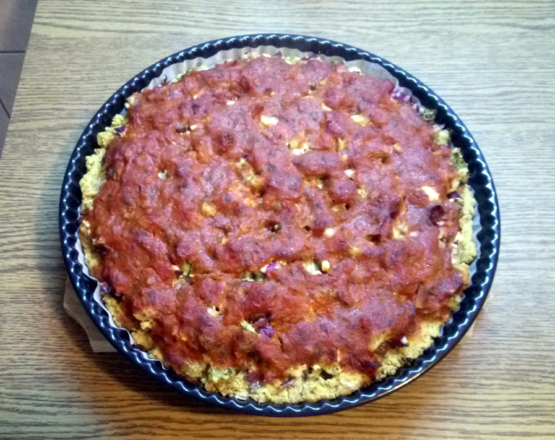 Delicious and highly nutritious gluten-free Romanian pizza