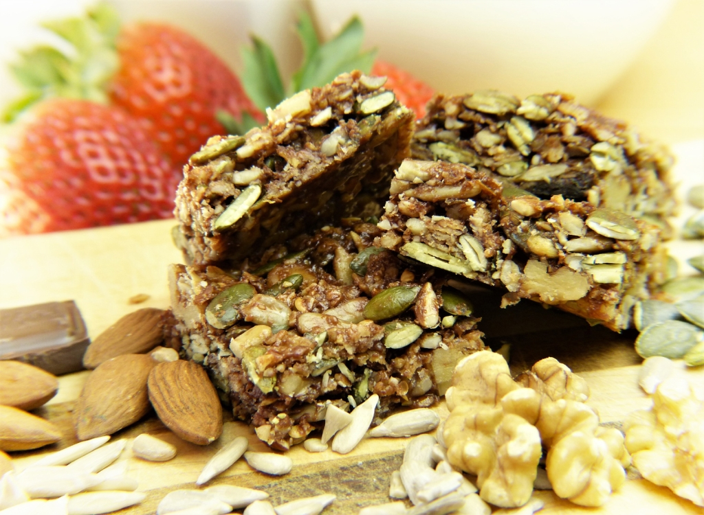 Granola bars with healthy nuts and seeds, homemade or store-bought