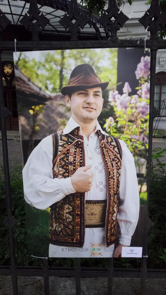 Men dressed in a traditional costume from the Banat region, Romania