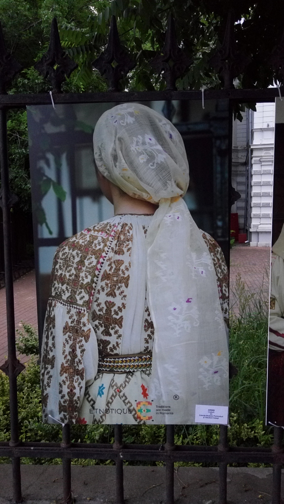 Woman dressed in a traditional costume from Arges, Romania
