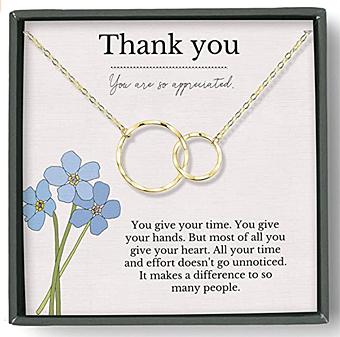 Thank you necklace for teachers, nurses, caregivers, etc.