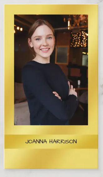 Artsy elegant photo business card, shimmery gold band and gold background