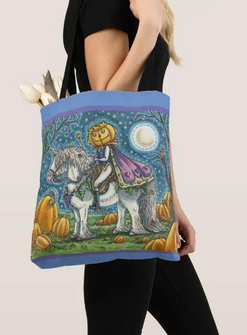 Jack of the Lantern prince on his magical unicorn. Nice illustration with Christian undertones